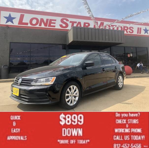 2015 Volkswagen Jetta for sale at LONE STAR MOTORS II in Fort Worth TX