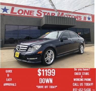 2013 Mercedes-Benz C-Class for sale at LONE STAR MOTORS II in Fort Worth TX