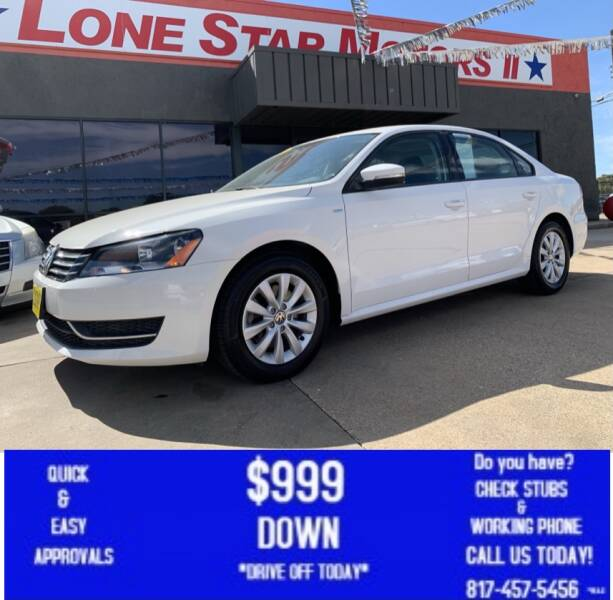 2014 Volkswagen Passat for sale at LONE STAR MOTORS II in Fort Worth TX