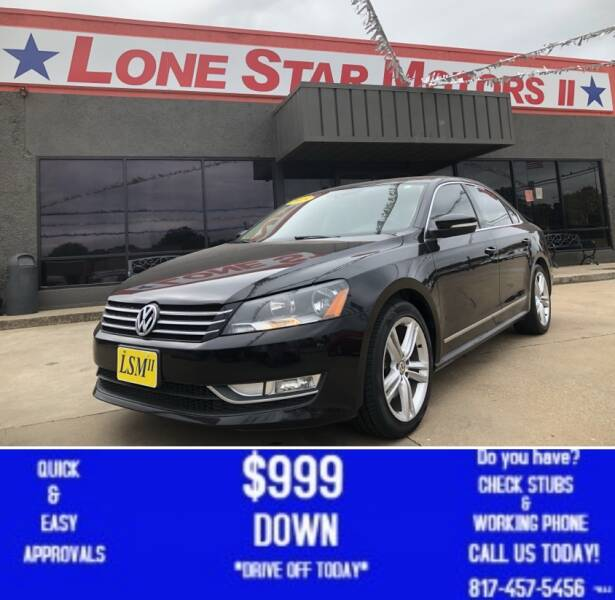 2015 Volkswagen Passat for sale at LONE STAR MOTORS II in Fort Worth TX