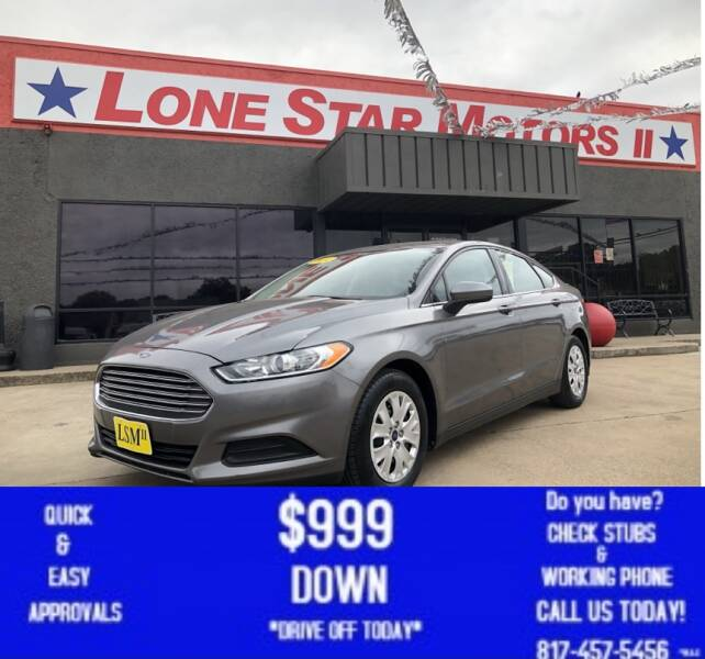 2014 Ford Fusion for sale at LONE STAR MOTORS II in Fort Worth TX