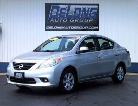 2012 Nissan Versa for sale at DeLong Auto Group in Tipton IN