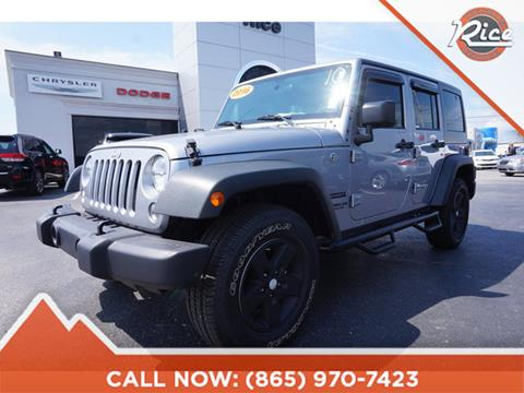 2016 Jeep Wrangler Unlimited for sale in Alcoa, TN