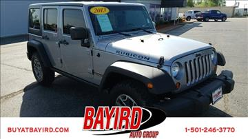 2013 Jeep Wrangler Unlimited for sale at Bayird Pre-Owned Supercenter of Little Rock in North Little Rock AR