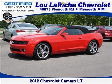 2012 Chevrolet Camaro for sale in Plymouth, MI