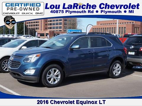 2016 Chevrolet Equinox for sale in Plymouth, MI