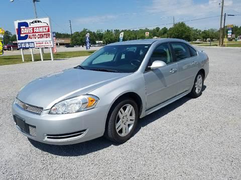 2012 Chevrolet Impala for sale at Davis Family Auto Center in Dillon SC