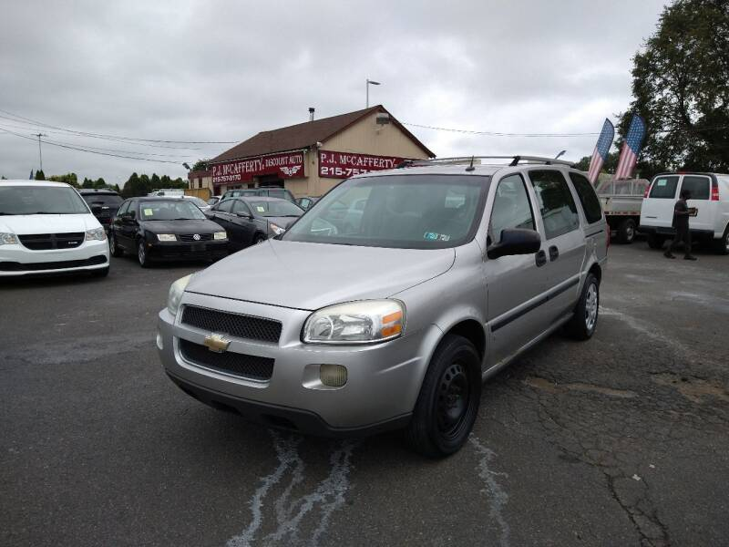 2006 Chevrolet Uplander for sale at P J McCafferty Inc in Langhorne PA