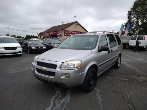 2006 Chevrolet Uplander for sale at P J McCafferty Inc in Langhorne PA