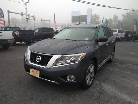 2014 Nissan Pathfinder for sale at P J McCafferty Inc in Langhorne PA