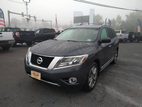 2014 Nissan Pathfinder for sale at P J McCafferty Inc in Langhorne PA