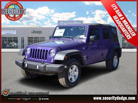 2017 Jeep Wrangler Unlimited for sale in Amityville, NY
