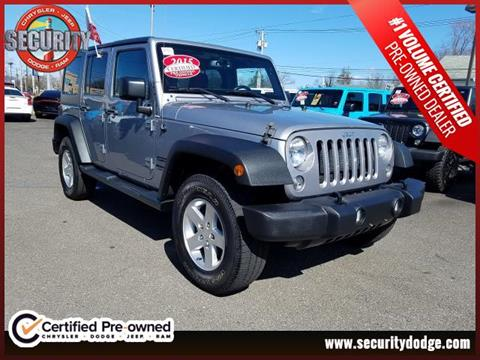 2015 Jeep Wrangler Unlimited for sale in Amityville, NY