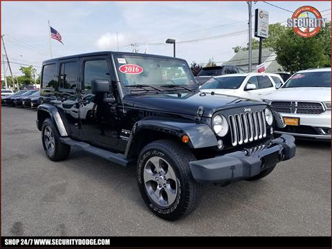 2016 Jeep Wrangler Unlimited for sale in Amityville, NY