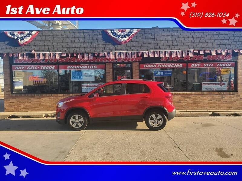 2015 Chevrolet Trax for sale at 1st Ave Auto in Cedar Rapids IA