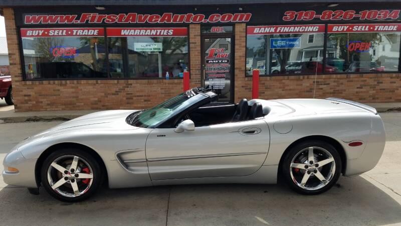 1998 Chevrolet Corvette for sale at 1st Ave Auto in Cedar Rapids IA