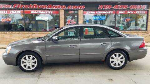 2005 Ford Five Hundred for sale at 1st Ave Auto in Cedar Rapids IA