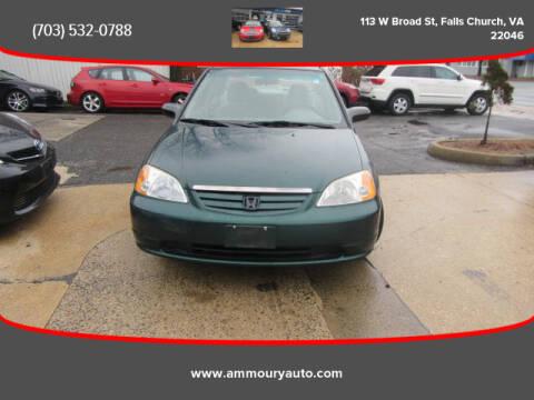 2002 Honda Civic LX for sale at Ammoury Auto LLC in Falls Church VA