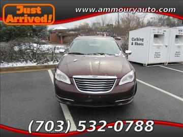 2012 Chrysler 200 for sale in Falls Church, VA
