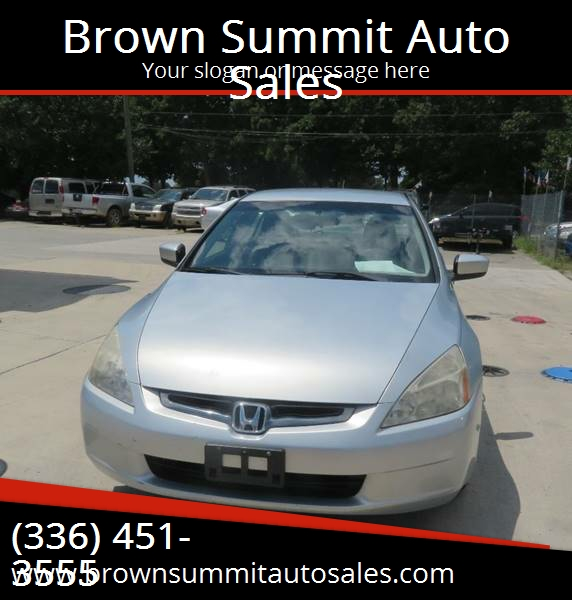 2005 Honda Accord For Sale At Brown Summit Auto Sales In Browns Summit NC