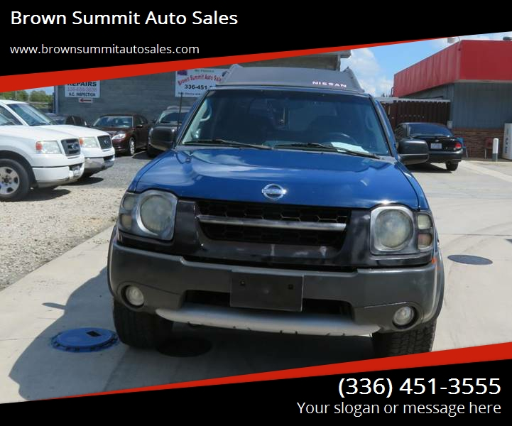 Summit Auto Sales >> 2002 Nissan Xterra Xe V6 In Browns Summit Nc Brown Summit Auto Sales