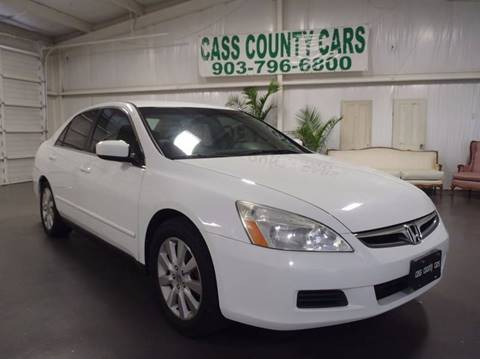 2007 Honda Accord for sale at Cass County Cars in Atlanta TX
