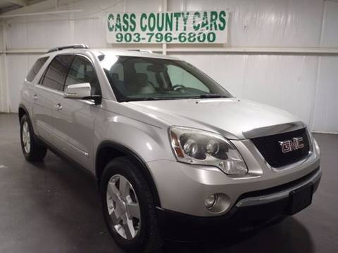 2008 GMC Acadia for sale at Cass County Cars in Atlanta TX