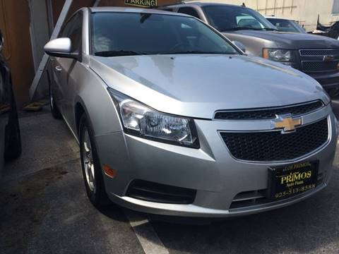 2012 Chevrolet Cruze for sale at Los Primos Auto Plaza in Brentwood CA