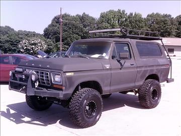 1979 ford bronco for sale in spartanburg sc. Cars Review. Best American Auto & Cars Review
