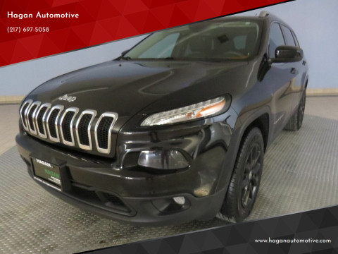 2014 Jeep Cherokee for sale at Hagan Automotive in Chatham IL