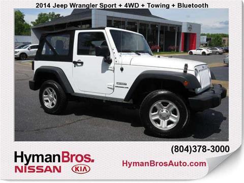 2014 Jeep Wrangler for sale in Midlothian, VA