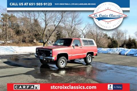 1988 GMC Jimmy for sale at St. Croix Classics in Lakeland MN