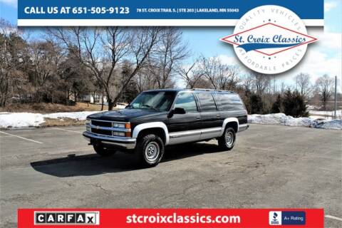 1995 Chevrolet Suburban for sale at St. Croix Classics in Lakeland MN