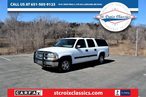 2001 Chevrolet Suburban for sale at St. Croix Classics in Lakeland MN