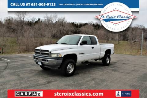 2002 Dodge Ram Pickup 2500 for sale at St. Croix Classics in Lakeland MN