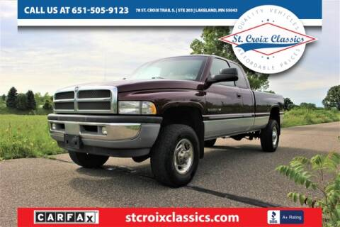 2001 Dodge Ram Pickup 2500 for sale at St. Croix Classics in Lakeland MN
