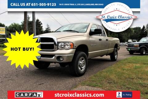 2004 Dodge Ram Pickup 2500 for sale at St. Croix Classics in Lakeland MN