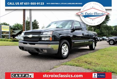 2003 Chevrolet Silverado 1500 for sale at St. Croix Classics in Lakeland MN