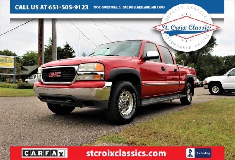 2002 GMC Sierra 1500HD for sale at St. Croix Classics in Lakeland MN