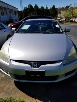 2003 Honda Accord for sale at DDN & G Auto Sales in Newnan GA