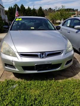2006 Honda Accord for sale at DDN & G Auto Sales in Newnan GA