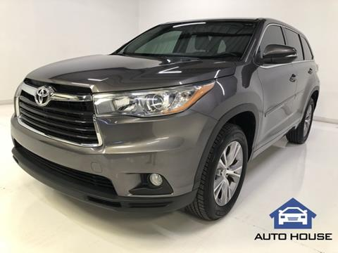 2015 Toyota Highlander For Sale >> 2015 Toyota Highlander For Sale In Peoria Az