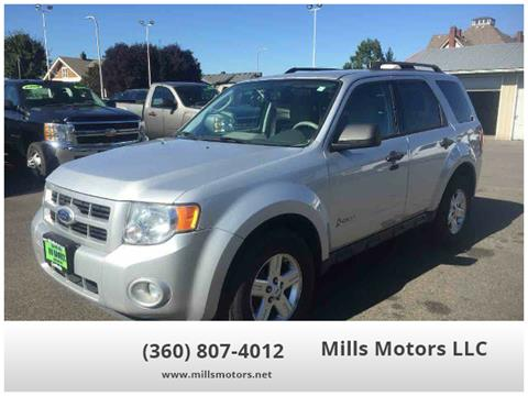 2012 Ford Escape Hybrid for sale in Centralia, WA