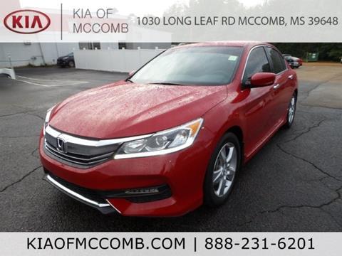 2016 Honda Accord for sale in Mccomb, MS