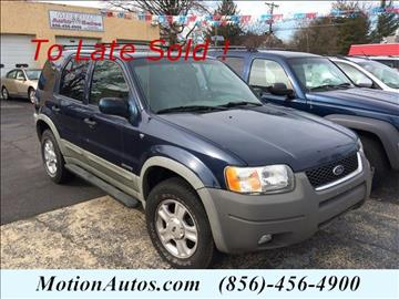 2002 Ford Escape for sale in West Collingswood, NJ