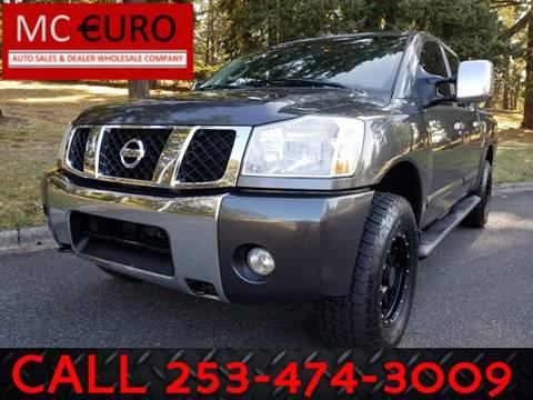 2005 Nissan Titan for sale at MC EURO in Tacoma WA