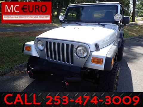 2005 Jeep Wrangler for sale in Tacoma, WA