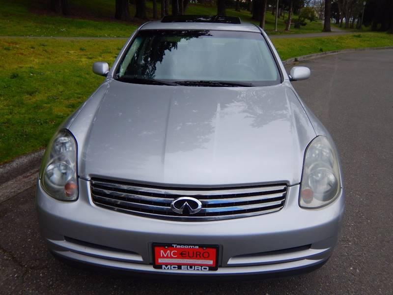 2003 Infiniti G35 for sale at MC EURO in Tacoma WA