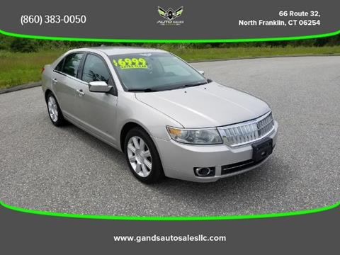 2008 Lincoln MKZ for sale in North Franklin CT