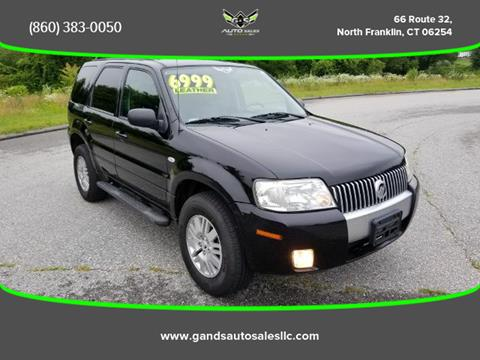 2007 Mercury Mariner for sale in North Franklin CT